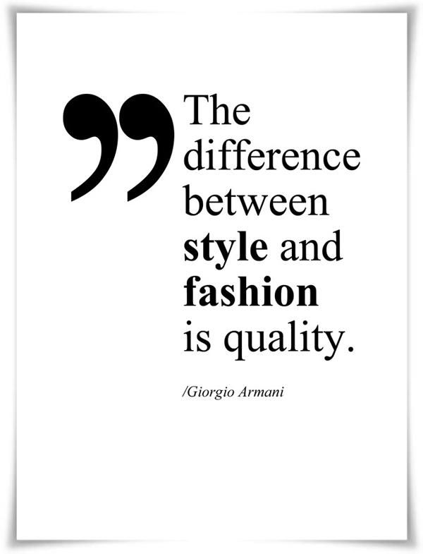 Fashion vc Style