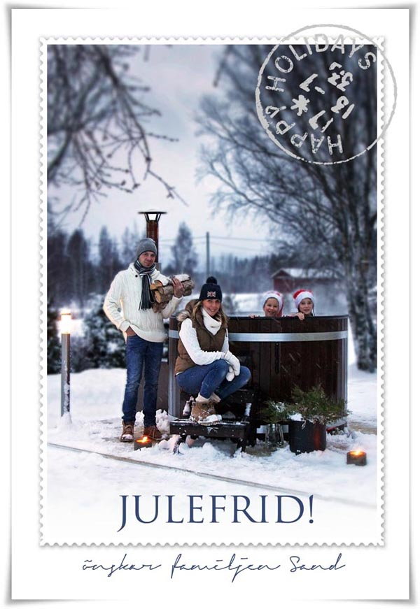 Julkort 2013 Stamped Text